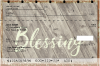 Rustic Blessings Top Stub Checks | TSREL-52