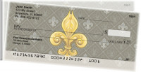 Fleur-de-lis Side Tear Personal Checks | STGEP-64