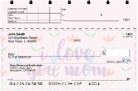 I Love You, Mom Top Stub Personal Checks | TSLOV-24
