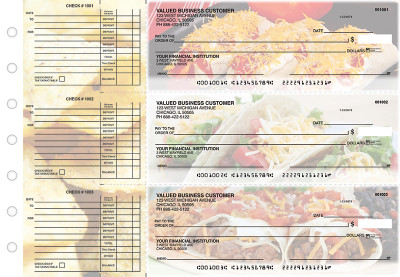 Mexican Cuisine Accounts Payable Designer Business Checks | BU3-CDS07-DED