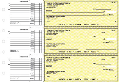 Yellow Safety Accounts Payable Business Checks | BU3-YEL01-DED