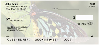 Butterfly Bliss Personal Checks | CCS-43