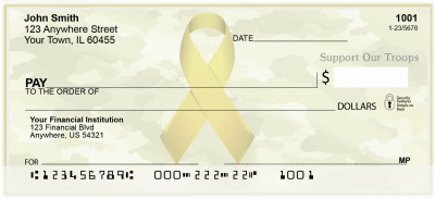 Support Our Troops Ribbon Personal Checks | MIL-89