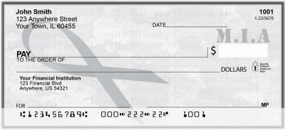 MIA Remembrance Ribbon Personal Checks | RIB-21
