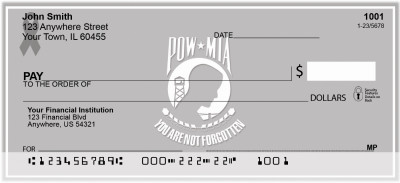 POW/MIA Remembrance Ribbon Personal Checks | RIB-22
