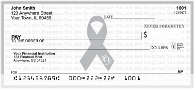 POW/MIA Never Forgotten Personal Checks | RIB-23