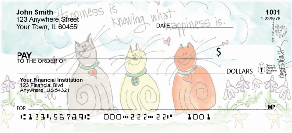 Happy Cats Personal Checks | AMY-09