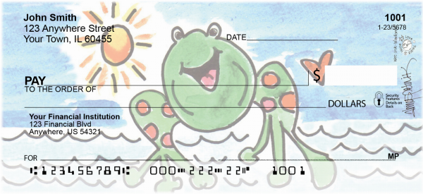 Marina Frog Personal Checks by Amy S. Petrik | AMY-10