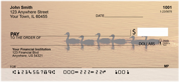 Ducks on a Golden Pond Personal Checks | ANI-65