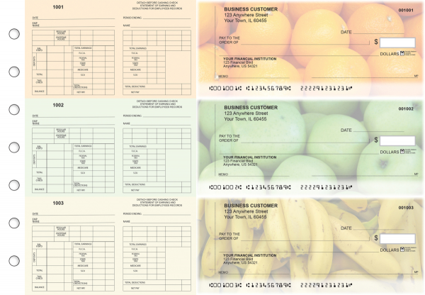 Fruit Multi-Purpose Counter Signature Business Checks | BU3-7CDS03-MPC