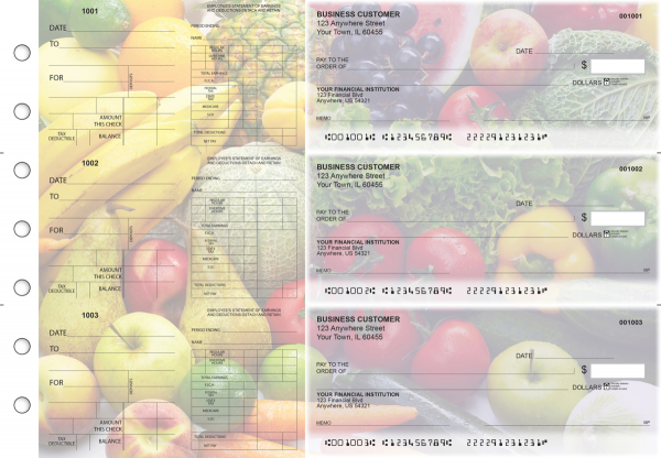 Fresh Produce Dual Purpose Voucher Business Checks | BU3-7CDS09-DPV