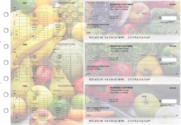 Fresh Produce Multi-Purpose Corner Voucher Business Checks | BU3-7CDS09-MPV