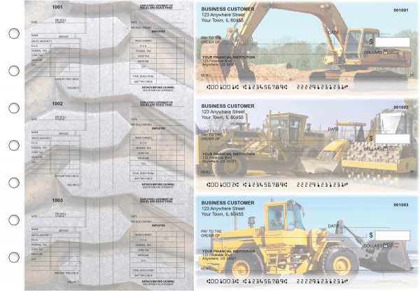 Construction Multi-Purpose Salary Voucher Business Checks | BU3-7CDS10-MPS