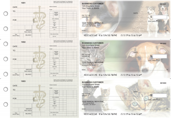 Veterinarian Dual Purpose Voucher Business Checks | BU3-7CDS14-DPV