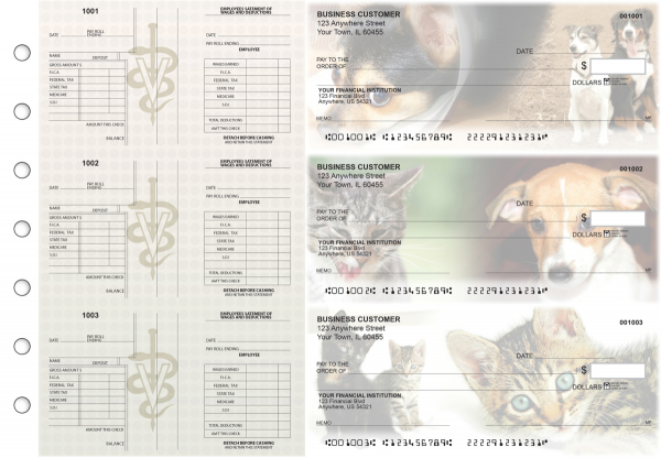 Veterinarian Multi-Purpose Salary Voucher Business Checks | BU3-7CDS14-MPS