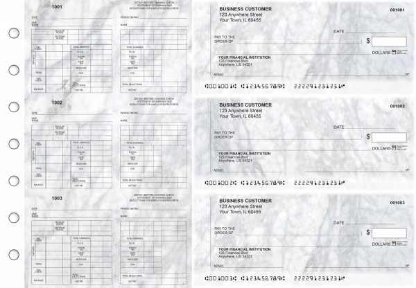 Marble Multi-Purpose Counter Signature Business Checks | BU3-7CDS20-MPC