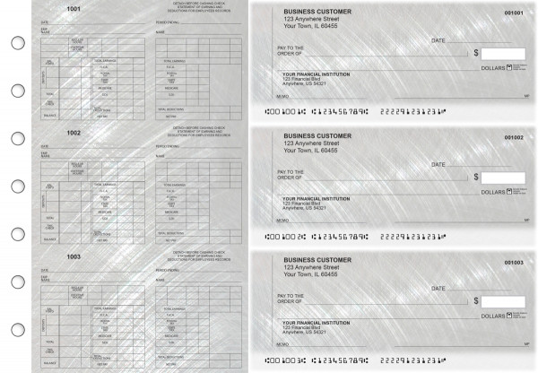 Brushed Metal Multi-Purpose Counter Signature Business Checks | BU3-7CDS23-MPC