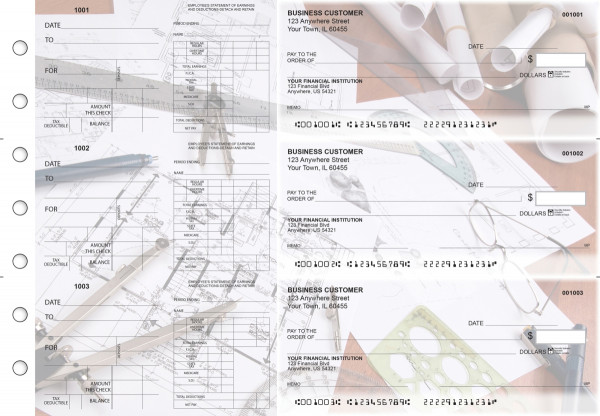Architect Dual Purpose Voucher Business Checks | BU3-7CDS27-DPV