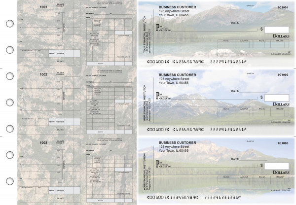 Scenic Mountains Payroll Invoice Business Checks | BU3-7CDS29-PIN
