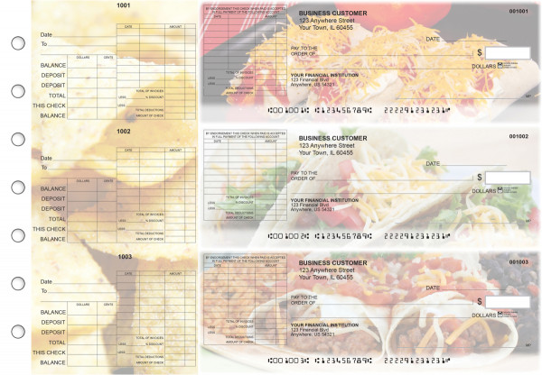 Mexican Cuisine General Itemized Invoice Business Checks | BU3-CDS07-GII