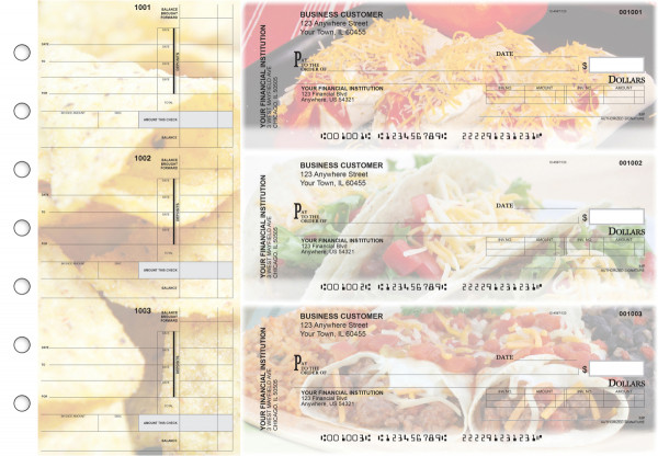 Mexican Cuisine Invoice Business Checks | BU3-CDS07-INV