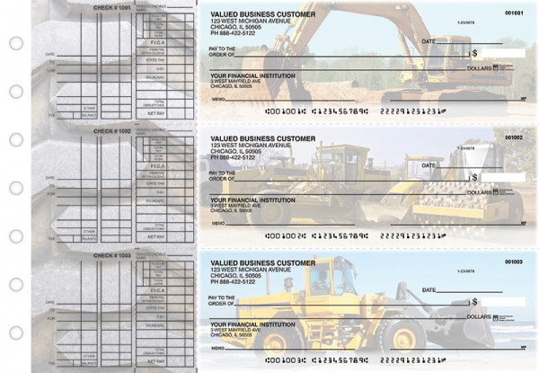 Construction Multi Purpose Designer Business Checks  | BU3-CDS10-DEP