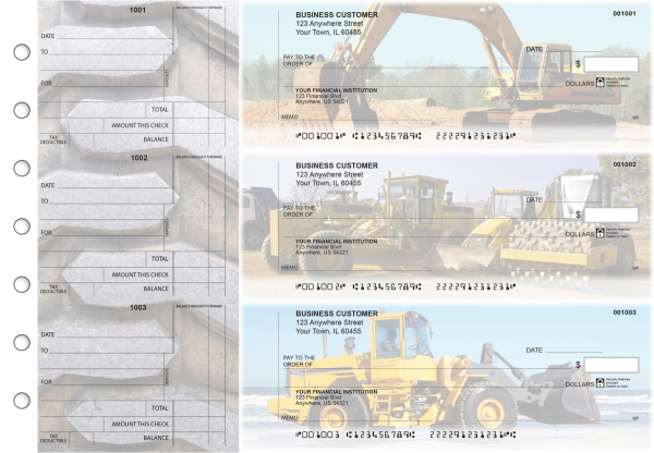 Construction Standard Counter Signature Business Checks | BU3-CDS10-SCS