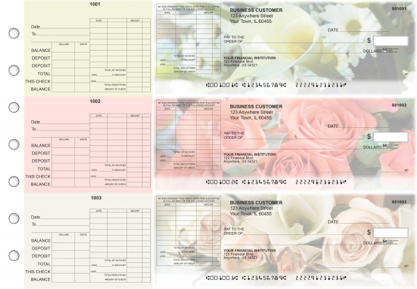 Florist General Itemized Invoice Business Checks | BU3-CDS11-GII