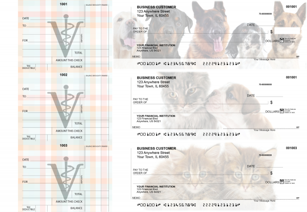 Veterinarian Standard Counter Signature Business Checks | BU3-CDS14-SCS