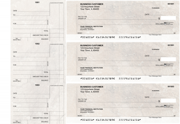 Granite Standard Counter Signature Business Checks | BU3-CDS16-SCS