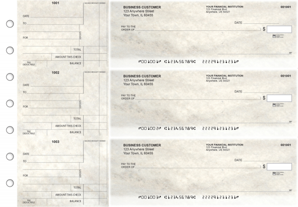 Granite Standard Mailer Business Checks | BU3-CDS16-SML