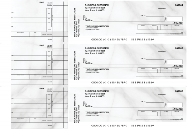 Marble Invoice Business Checks | BU3-CDS20-INV