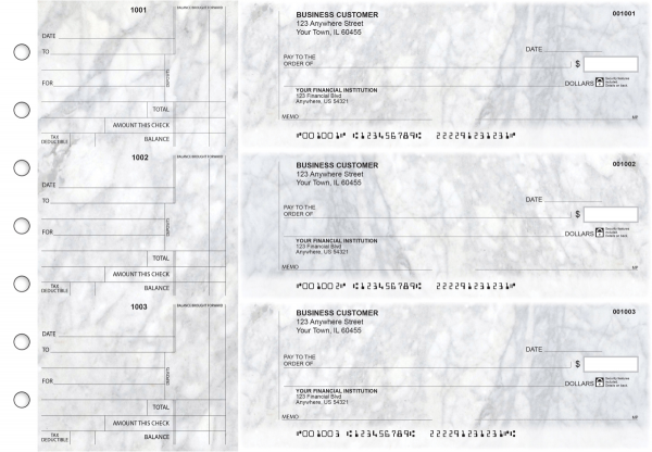 Marble Standard Counter Signature Business Checks | BU3-CDS20-SCS
