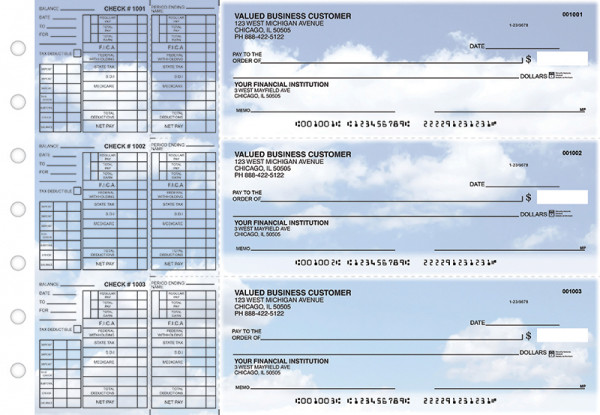 Clouds Payroll Designer Business Checks  | BU3-CDS21-PAY