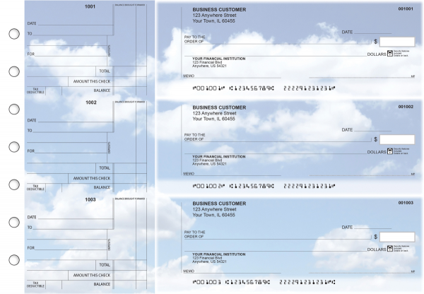 Clouds Standard Counter Signature Business Checks | BU3-CDS21-SCS