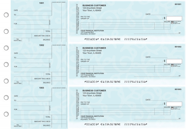 Swirls Itemized Counter Signature Business Checks | BU3-CDS24-ICS