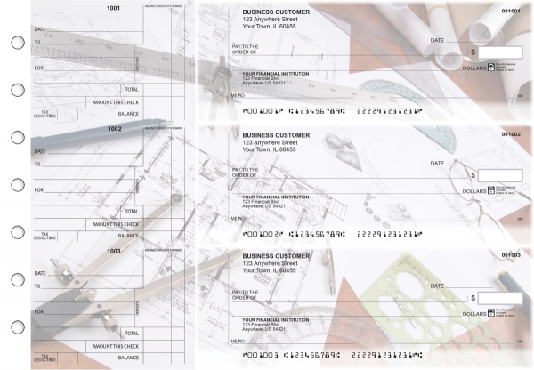 Architect Standard Counter Signature Business Checks | BU3-CDS27-SCS