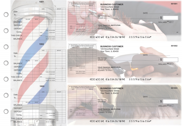 Barber General Itemized Invoice Business Checks | BU3-CDS28-GII