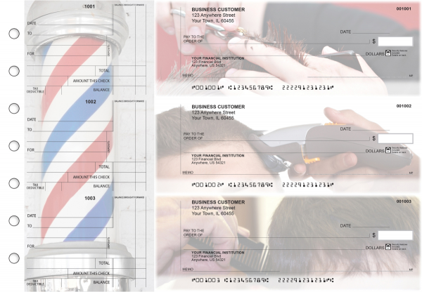 Barber Standard Counter Signature Business Checks | BU3-CDS28-SCS