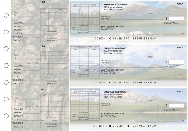 Scenic Mountains General Itemized Invoice Business Checks | BU3-CDS29-GII
