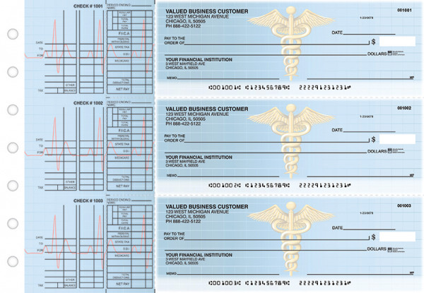 Medical Multi Purpose Designer Business Checks  | BU3-CDS30-DEP