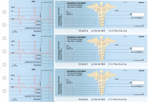 Medical Standard Invoice Business Checks | BU3-CDS30-SNV