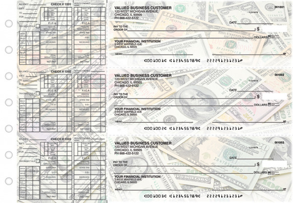 Money Payroll Designer Business Checks | BU3-CDS31-PAY