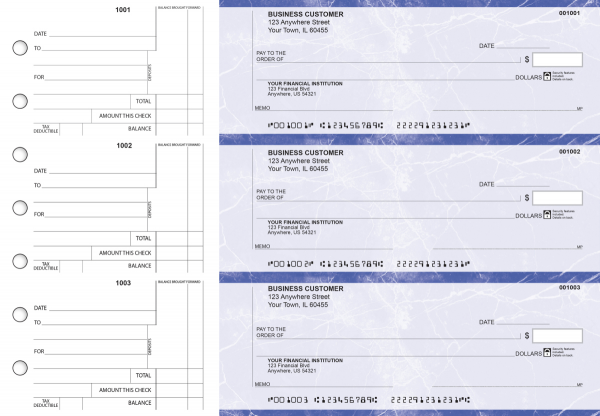 Blue Marble Standard Counter Signature Business Checks | BU3-LMA01-SCS