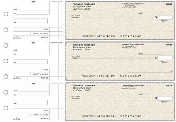 Tan Parchment Standard Mailer Business Checks | BU3-TPM01-SML
