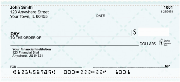 Simple Bliss Personal Checks | CCS-18
