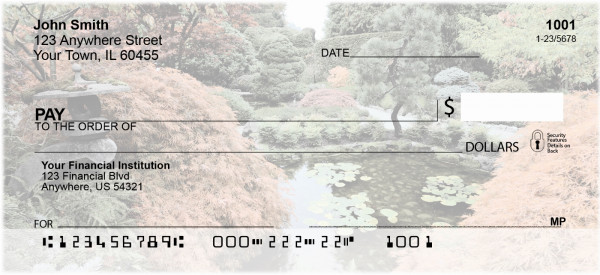 Japanese Garden Personal Checks | CCS-26