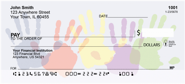 Children's Handprints Personal Checks | CCS-49