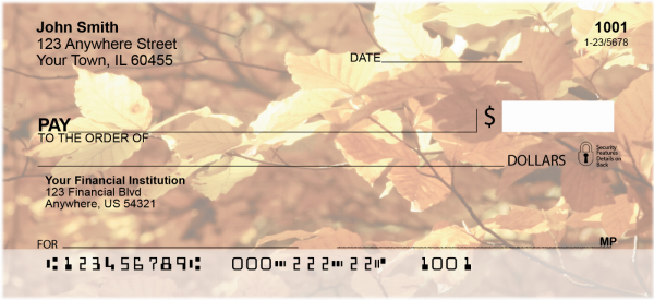 Foliage of the Seasons Personal Checks | CCS-54