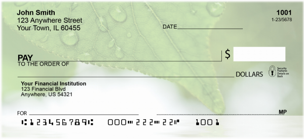 Leaves Over Water Personal Checks | CCS-62